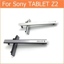100% New housing-USB Charging Port Dust Plug+Micro SD & Sim cards Jack Port Slot cover for Sony Xperia Z2 Tablet Dust Waterproof