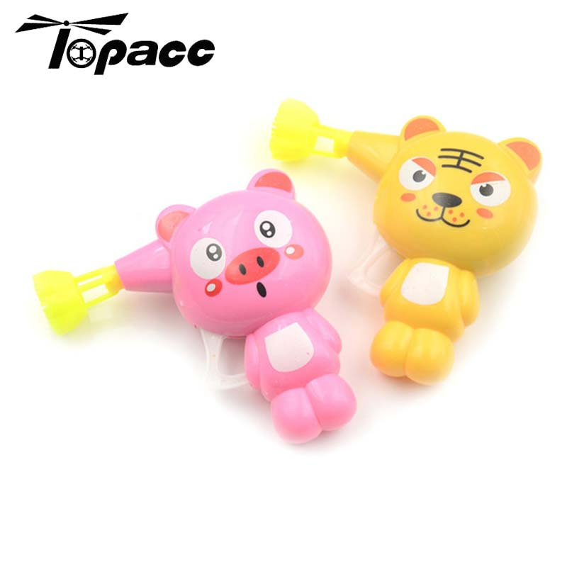 Cartoon Bubble Blower Machine Cute Animal Model Toy Kids Soa