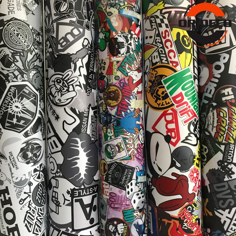 10/20/30/40/50X152CM JDM Graffiti Stickerbomb Vinyl Wrap Car Motorcycle Scooter Bike Wrapping Covers Decal Film