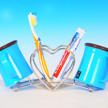 Lovely heart shaped stainless steel toothbrush holder 21*11.5*6cm Free Shipping