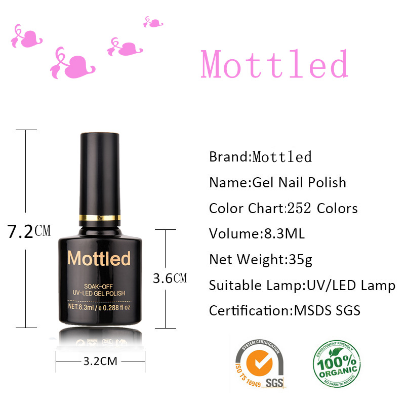 Mottled 223 Color Gel Nail Polish Soak Off 83ml Uv Led Hybrid Gel