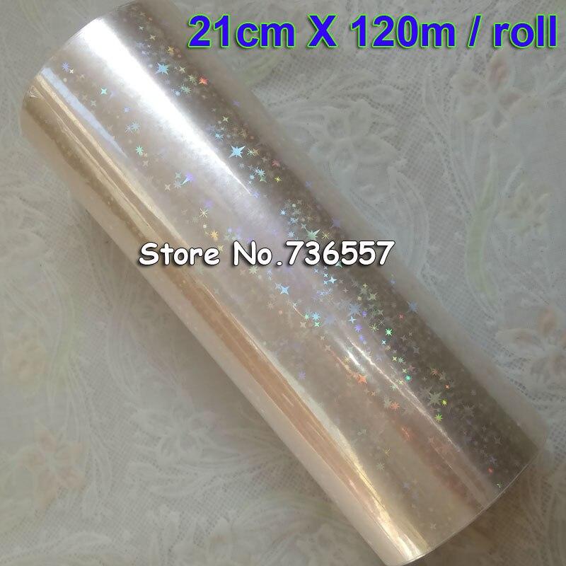 Holográfica folha de Estrela folha de carimbo quente para o papel ou plástico transparente 21 cm x 120 m Quebrado Estrela Folha De Dourados óculos Dourados