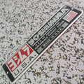 Etiqueta adhesiva de aluminio de la motocicleta tubo de escape yoshimura etiqueta yoshimura silenciador de metal etiqueta