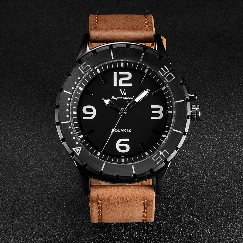 V6 New Military Royale Men Watch Fashion Luxury Business Quartz Watches Mens High Quality Sports Leather Wristwatch relojes