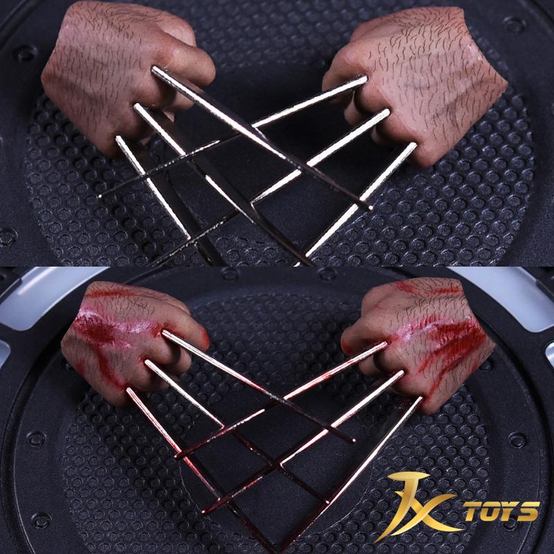 JXtoys Wolverine 1/6 Wolf Claw Fist Hand Claw Type Support HT Ferrite Action Figure Model 1 6 bloodstain normal wolverine claw hands type model for 12 inches male action figure