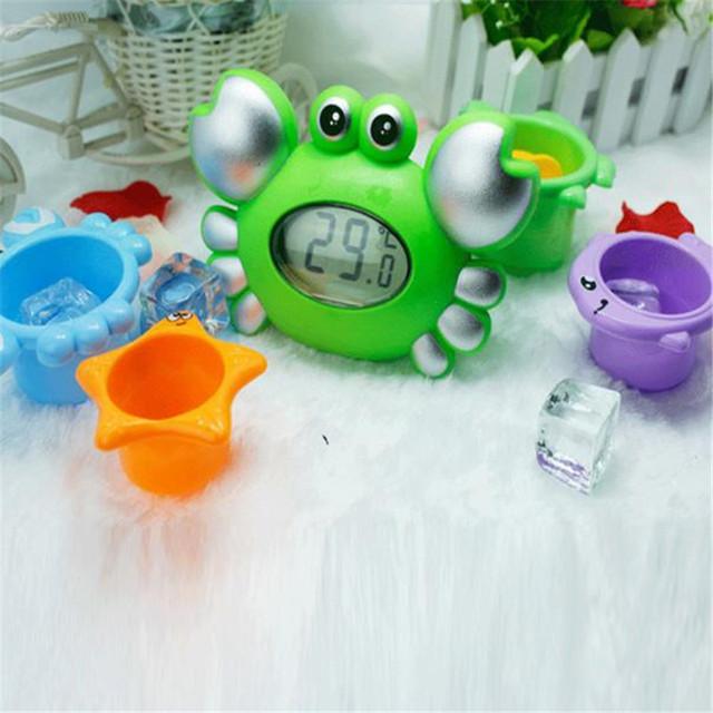 Indicador de temperatura del agua del bebé recién nacido de dibujos animados juguete del baño termómetro electrónico Levert Dropship En Dec13