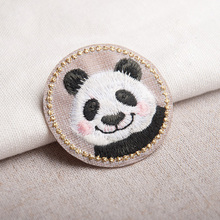 Cat Rabbit Panda badge Embroidered Patches Sewing On Applique Cute Fabric Patch Clothes Shoes and Bags DIY Decoration