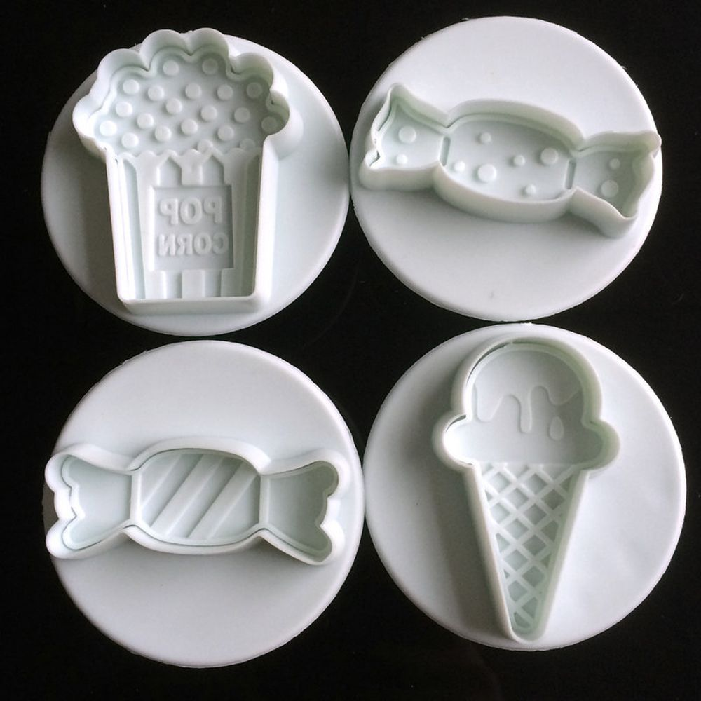 plastic cake/cookie/biscuit cutter plunger mold and fondant cake decorating tools