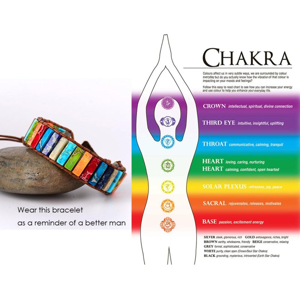 Colored Chakra Healing Bracelet