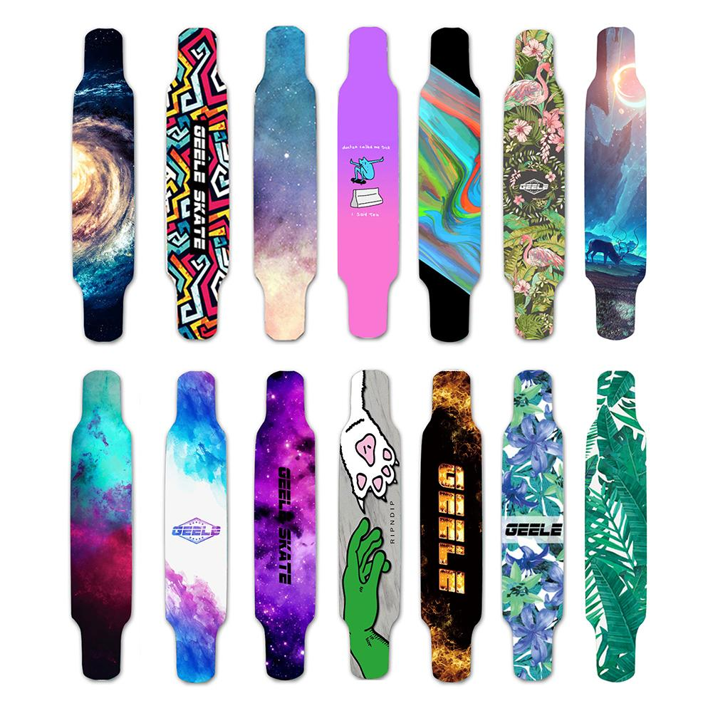 120*25cm Long Skateboard Sandpaper Scooter Sticker Wear Resistant Sand Sticker Skateboard Decoration Sticker Riding Accessories