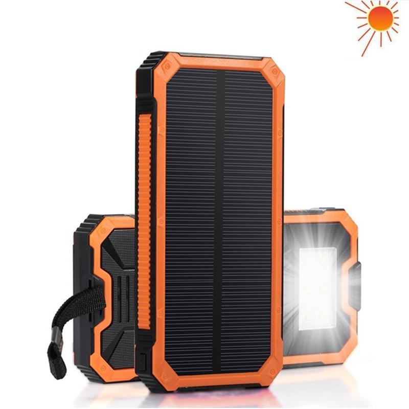 Solar Powerbank Mobile Phone Power Bank Portable External Sun Charger Cellphone Battery Powerbank 10000mah Universal