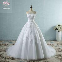 Popodion Wedding Dress Lace Strapless Wedding Dresses Bridal Dresses 2019  Bride Wedding Dresses WED90497 a1d36e9c6c08