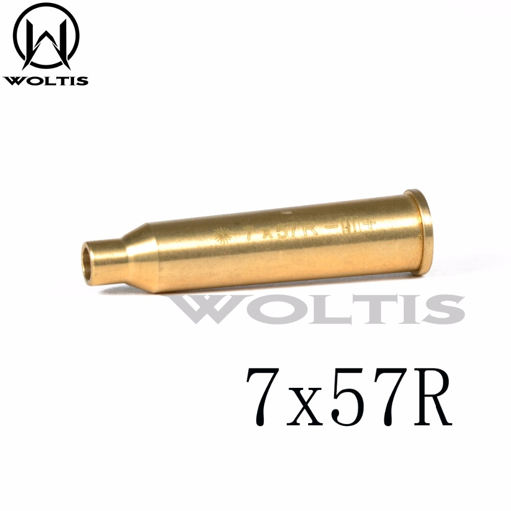 Lights & Lasers 7x57R Brass Red Laser Dot Boresighter Bore