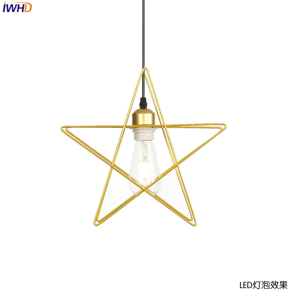 IWHD Aluminum Star Pendant Lights LED Post Modern Hanging Lamp Industrial Lamp Light Fixtures Home Lighting Luminaire SuspenduIWHD Aluminum Star Pendant Lights LED Post Modern Hanging Lamp Industrial Lamp Light Fixtures Home Lighting Luminaire Suspendu