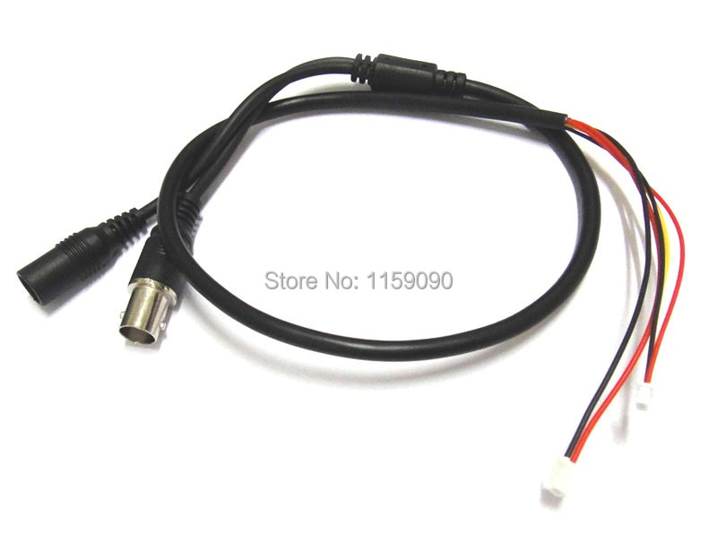 2Pcs Free Shipping Power Video Cable BNC And DC Connector For CCTV Cameras PCB Board