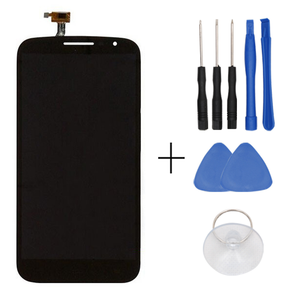 In Stock Original Black For Alcatel 7050 LCD Display And Touch Screen Assembly Free Shipping + Tools + Track Number