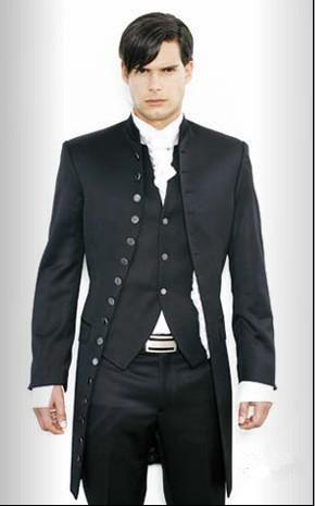 custom formal style tuxedo slim fit mens wedding suits tailored prom suits show dress jacketpantvesttie