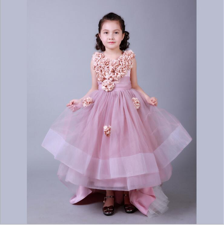 купить Elegant Princess Flower Girl Dresses for Weddings Sleeveless Mermaid Pageant Dresses Long Mother Daughter Dresses For Girls дешево