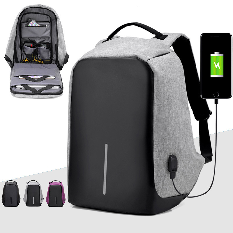 High Quality 15 6 Laptop Backpack External USB Charge Computer Backpacks Anti theft Waterproof Bag Men