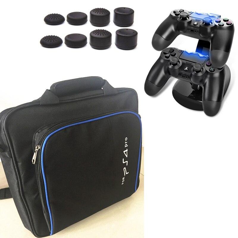PS4 PRO carry bag storage travel protect Case Handbag Shoulder bag+Charger Dock Station Stand For Sony Playstation 4 Pro PS4 Pro