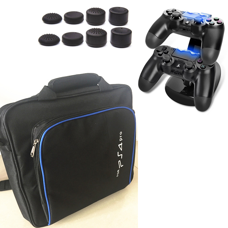 PS4 PRO bärväska Storage Travel Protect Väska Handväska Axelväska + Laddare Dock Station Stand För Sony Playstation 4 Pro PS4 Pro