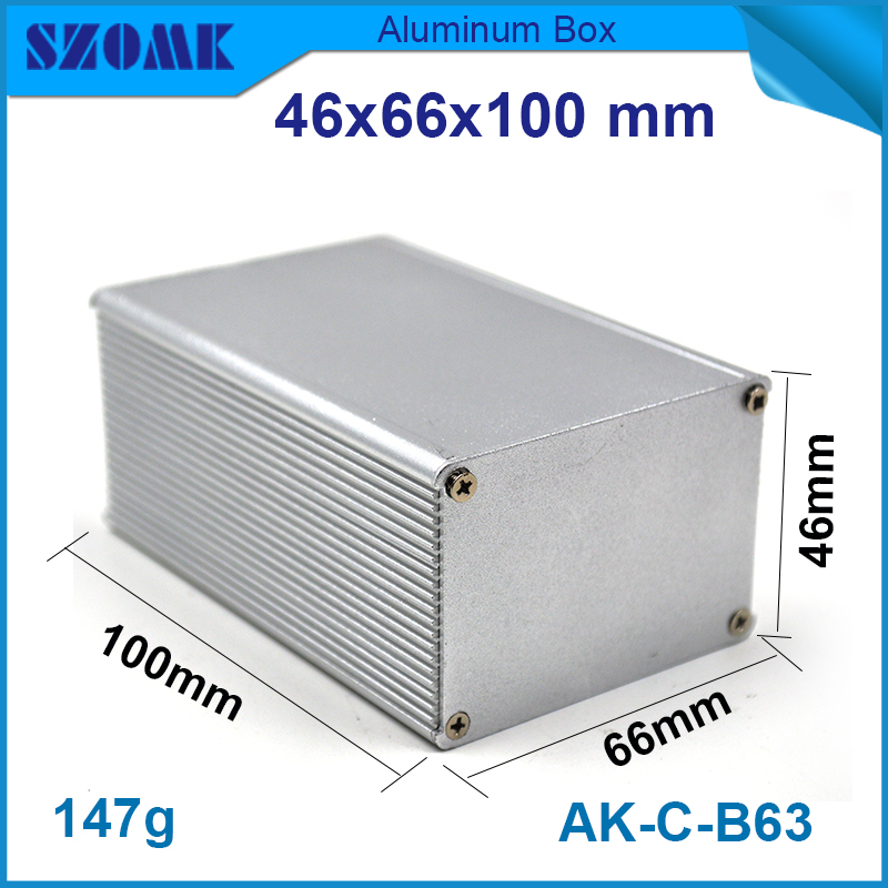 1 piece free shipping aluminum enclosure project box extruded aluminum enclosures 46(H)x66(W)x100(L) mm 1 piece free shipping aluminum enclosure project box extruded aluminum enclosures 46 h x66 w x100 l mm