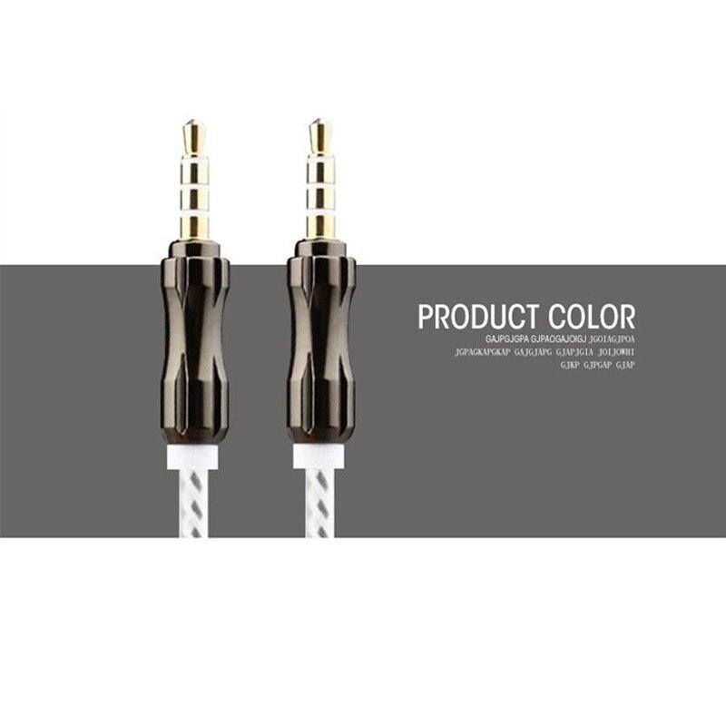 Aux Cable Car Audio Cable 100cm Gold Plated Plug Aux Cord