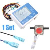 LCD דיגיטלי דלק שמן מד זרימת Flowmeter עם 13mm בנזין זרימת הילוך חיישן 0-10LPM Mayitr