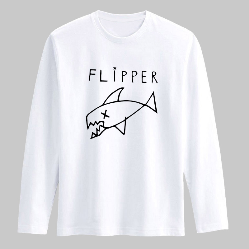 333088c7a Trendy Flipper Fish Pattern New Fashion T Shirt Men Long Sleeve Cotton T  Shirt High Quality Mens Hiphop Cotton Tees XXS 3XL-in T-Shirts from Men's  Clothing ...