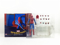Spider Man Homecoming Spiderman Home Made Suit Ver With Bracket PVC Action Figure Collectible Model Toy