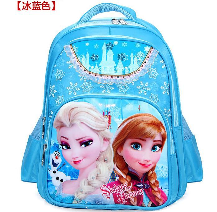 Горячие девушки мультфильм принцесса Эльза Анна школьный дети прекрасные печатные рюкзаки детская мода качество студент сумки