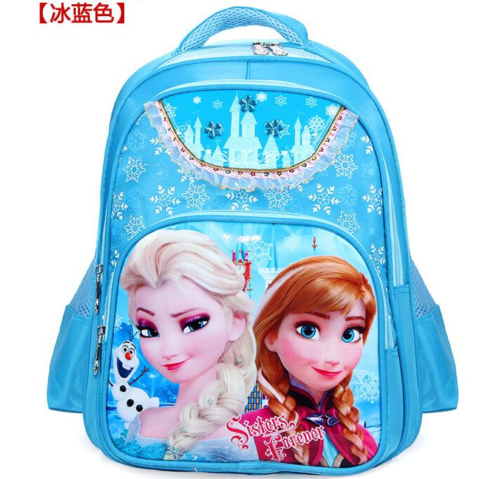 Hot girls cartoon princess Elsa Anna schoolbag font b kids b font lovely printed font b