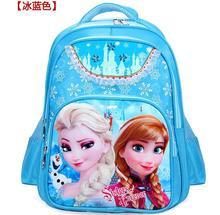 Hot girls cartoon princess Elsa Anna schoolbag kids lovely printed backpacks children s fashion quality student