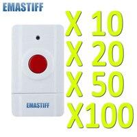 Frete grátis! 10/20/50/100 pces botão sos sem fio por atacado para o nosso sistema de segurança em casa alarme 433 mhz botão de pânico