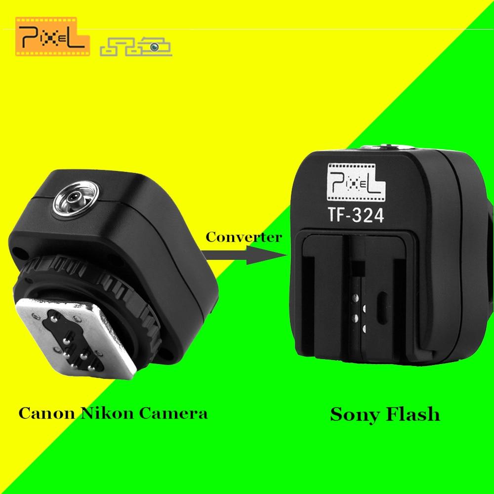 PIXEL TF 324 Hot Shoe Adapter Converter For Canon Nikon Pentax Panasonic Camera to Sony HVL