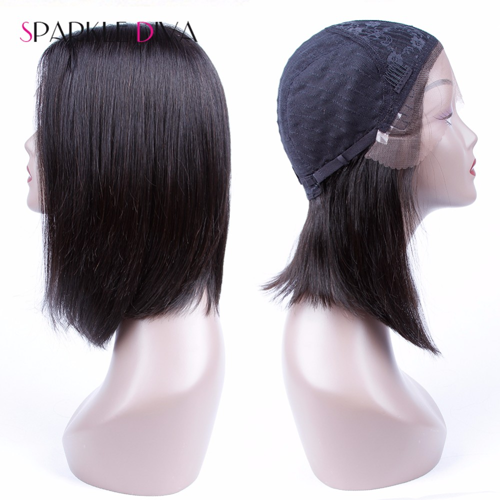 Mink Brazilian Human Hair Wigs Short Human Hair Bob Wigs Unprocessed Virgin 100% Lace Frontal Human Hair Bob Wigs With Baby Hair (2)