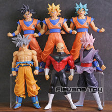 SUPER Dragon Ball Son Goku Ultra Instinto Jiren PVC Figuras Brinquedos Goku Super Saiyan Deus SS Preto 6 pçs/set(China)