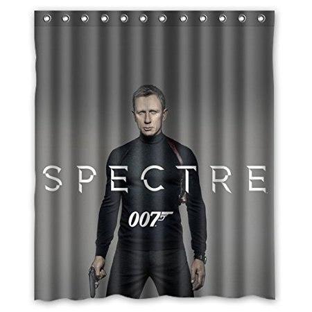 Bathroom Shower Curtains James Bond 007 Spectre Movie 180x180cm Eco-friendly Waterproof Fabric Shower Curtain
