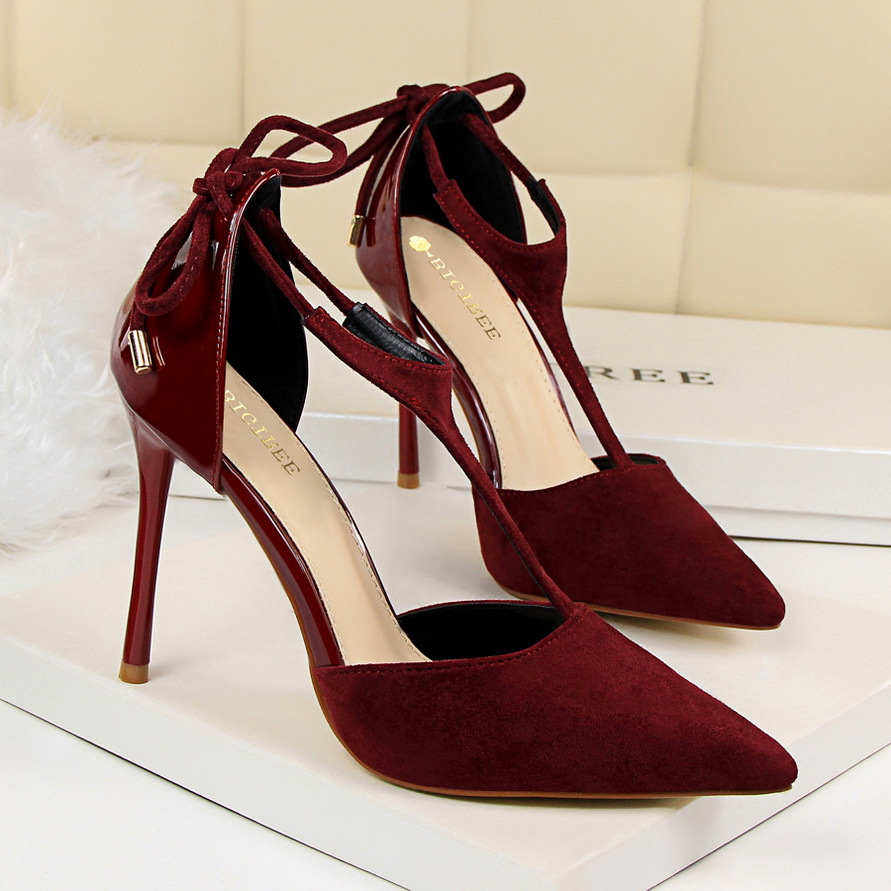 BIGTREE New Spring Summer Women Pumps Sweet High-heeled Shoes Fashion Thin Pink High Heel Shoes Hollow Pointed Stiletto Elegant new spring summer elegant pumps fashion sexy slim thin metal heel shallow mouth pointed sweet bow suede high heeled shoes g395 2