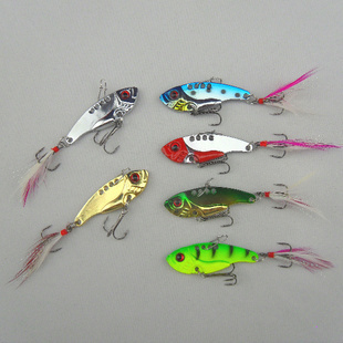 6pcs/lot 12g 5.5cm fishing lures set spoon china Metal VIB sequins Fish hard bait bass vibration lure crankbait