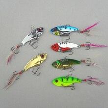 6pcs/lot 12g 5.5cm fishing lures set spoon china Metal VIB sequins Fish hard bait bass vibration lure crankbait