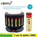Литий-ионные полимерные аккумуляторы KENTLI с 16 слотами  зарядное устройство + 16 полимерных литий-ионных батарей AA/AAA  аккумуляторные батареи KT