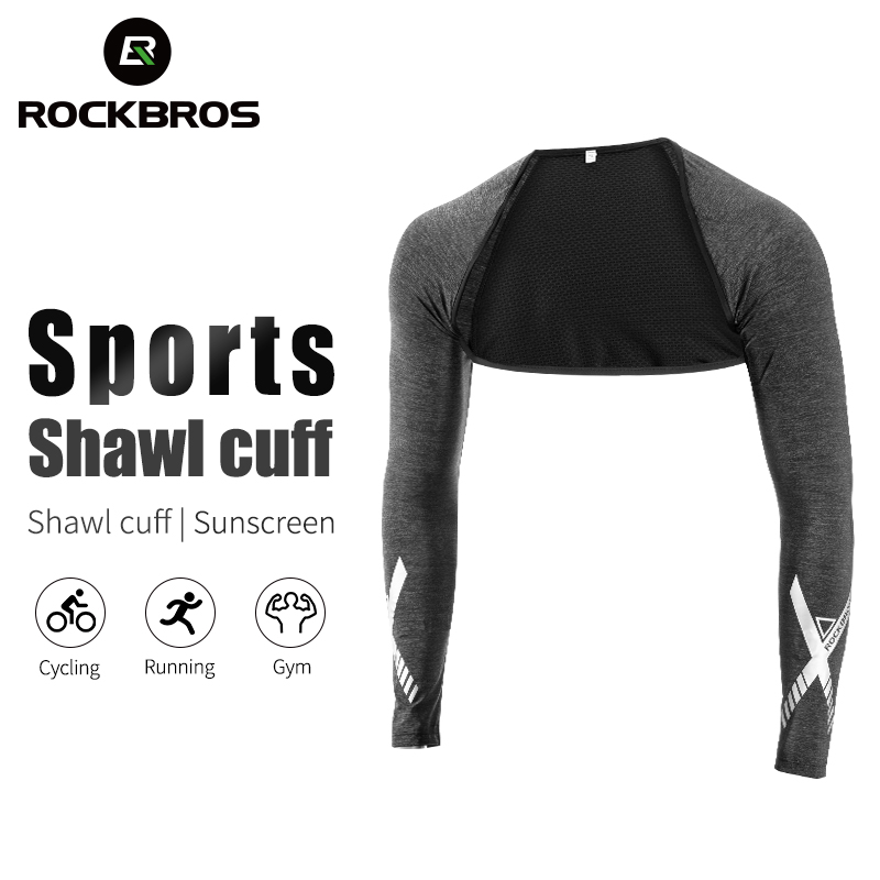 RockBros Cycling Sports Arm Cover Sun Protection Ice Silk Oversleeve a Pair