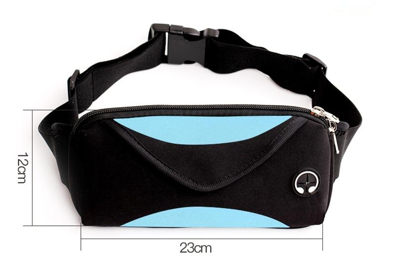 Fishion 女性のための防水パックメンズファニーパックウエストパック女性ベルトボムバッグ男性電話財布ポーチバッグ