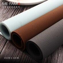 לי. FAM חדש פשוט עור מרקם סיליקון נגד חמה כרית צלחת עמיד למים Oilproof בית אוכל שולחן Mesa הגנה מחצלות