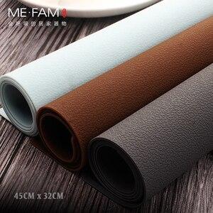 Image 1 - ME.FAM napperon en cuir et Silicone, set de Table Simple, Texture Anti chaleur, Pad de vaisselle, imperméable à leau et résistant à lhuile, tapis de Table de Table