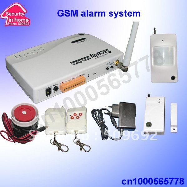 home security GSM alarm 900/1800MHZ  auto dial + SMS alarm free shipping