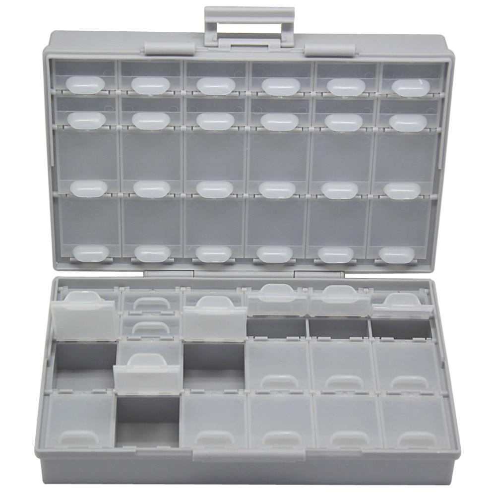 AideTek Enclosure SMD SMT Capacitor BOX Organizer Surface Mount Electronics Storage Cases &Organizers Plasitc Toolbox BOXALL48