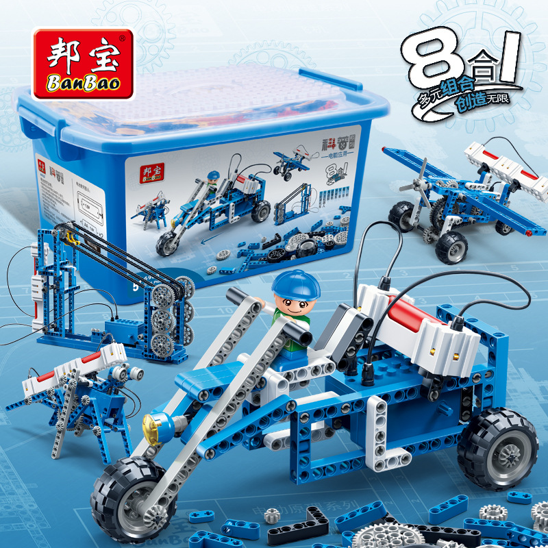 Banbao Model building kits compatible with lego city Application of electric energy blocks Educational toys hobbies for children lepin 02012 city deepwater exploration vessel 60095 building blocks policeman toys children compatible with lego gift kid sets