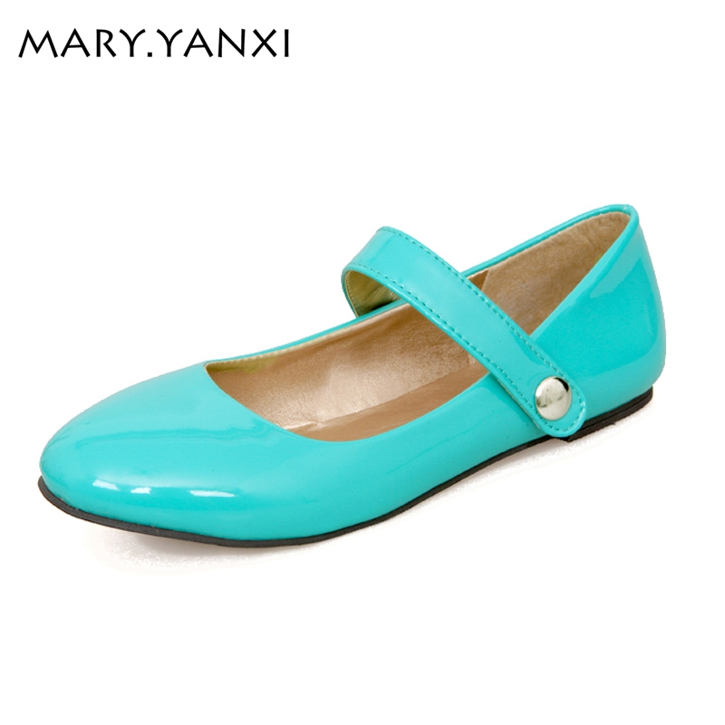 Big size shoes women autumn spring flats shoes slip-on ladies shoes round toe patent leather summer shoes ballet flats women new women flats shoes leather round toe shoe ladies fashion leather girl shoes slip on work footwear spring summer big size